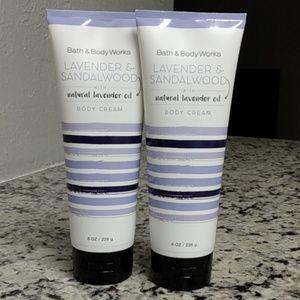 Bath&Body Works Lavender & Sandalwood Cream Set